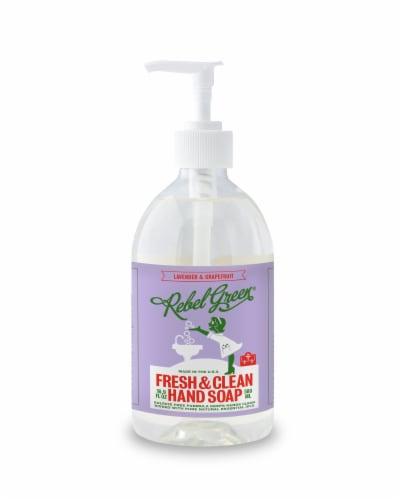 Rebel Green Fresh & Clean Lavender & Grapefruit Hand Soap Perspective: front