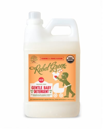 Rebel Green Chamomile & Orange Blossom Gentle Baby Laundry Detergent Perspective: front