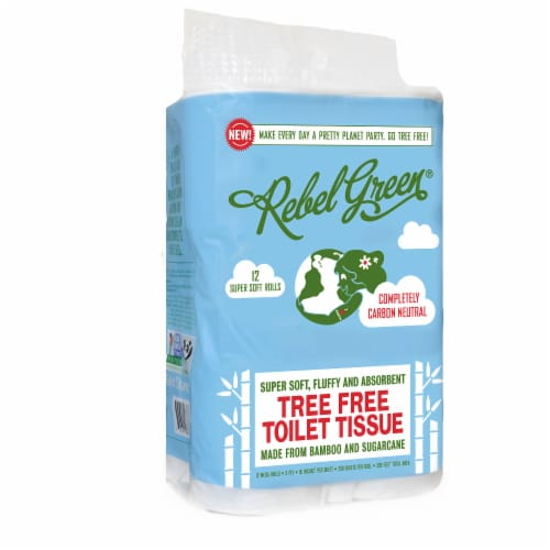 Rebel Green Tree Free 3-Ply Toilet Tissue Perspective: front