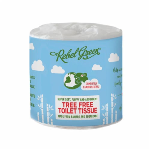 Rebel Green Tree Free Toilet Paper Single Roll Perspective: front