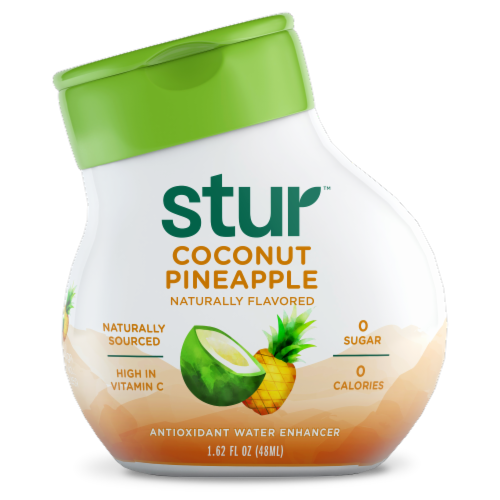 Stur All Natural Coconut Water + Pineapple Liquid Water Enhancer Perspective: front