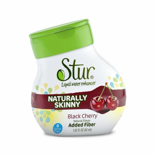 Stur Naturally Skinny Black Cherry Liquid Water Enhancer Perspective: front