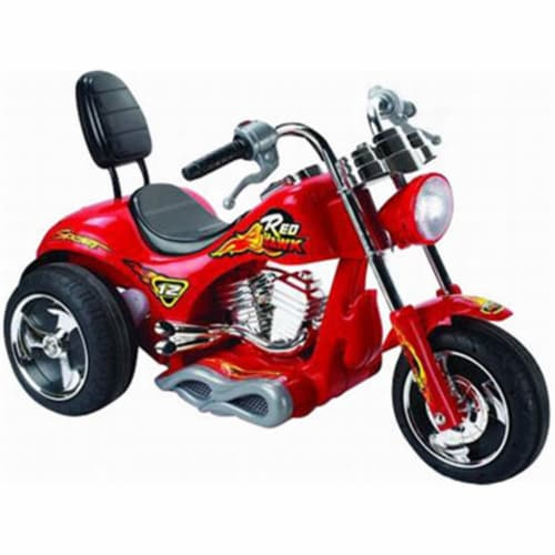 Big Toys USA MM-GB5008_Red Red Hawk Motorcycle 12V Red Perspective: front