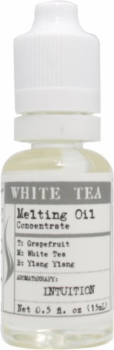 Stone White Tea Candle Melting Oil Perspective: front