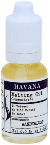 Stone Havana Candle Melting Oil Perspective: front