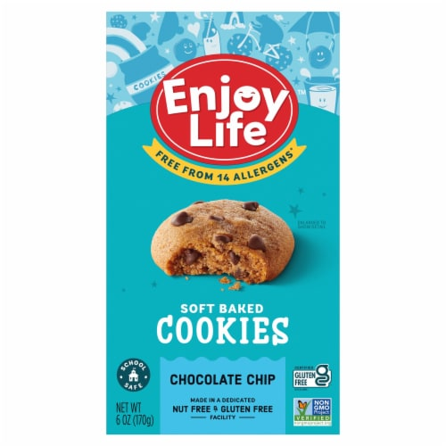 Enjoy Life Gluten-Free Chocolate Chip Soft Baked Cookies Perspective: front