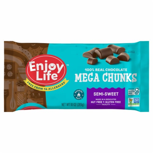Enjoy Life Gluten-Free Semi-Sweet Chocolate Mega Chunks Perspective: front