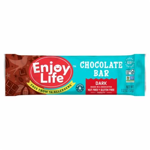 Enjoy Life Gluten-Free Dark Chocolate Bar Perspective: front
