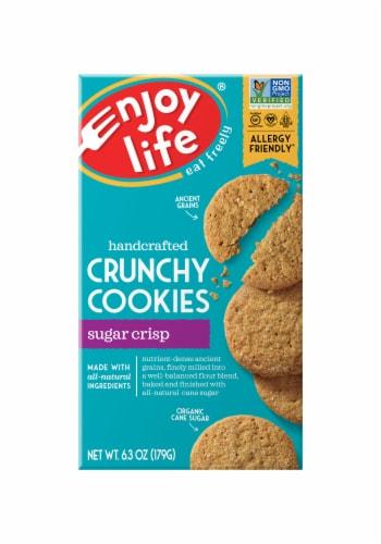 Enjoy Life Gluten-Free Crunchy Cookies Sugar Crisps Perspective: front