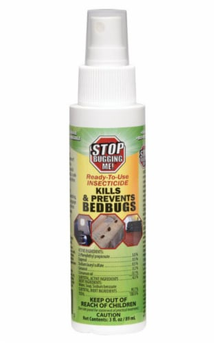 Stop Bugging Me Insect Repellent Liquid For Bed Bugs 3 oz. - Case Of: 1; Perspective: front