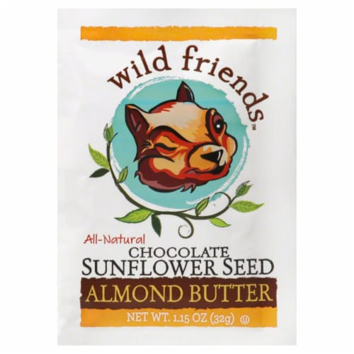Wild Friends Chocolate Sunflower Seed Almond Butter Perspective: front