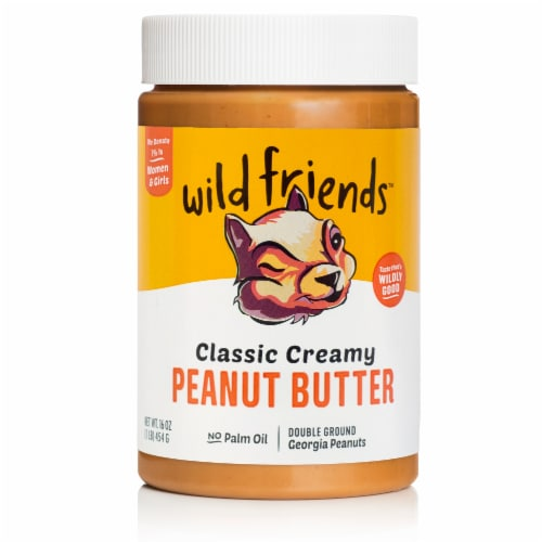 Wild Friends Organic Creamy Peanut Butter Perspective: front