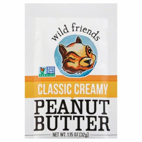 Wild Friends Organic Creamy Peanut Butter Squeeze Pak Perspective: front