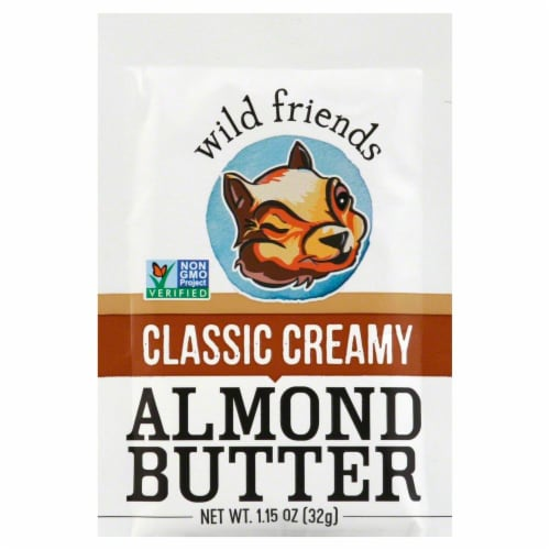 Wild Friends Organic Creamy Almond Butter Squeeze Pak Perspective: front