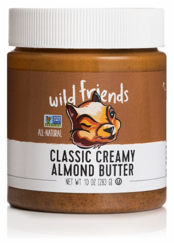 Wild Friends Organic Creamy Almond Butter Perspective: front