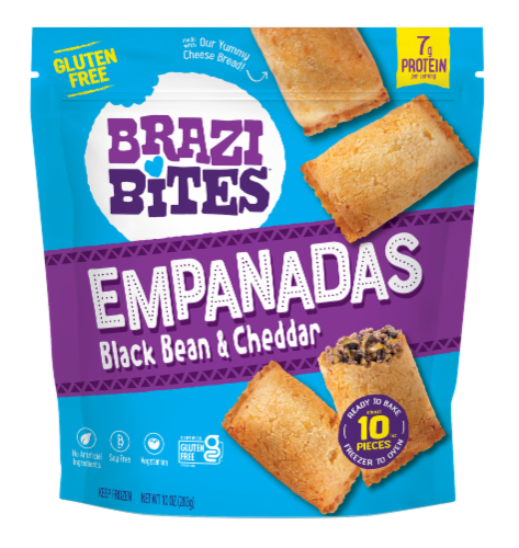 Brazi Bites Black Bean and Cheddar Empanadas Perspective: front