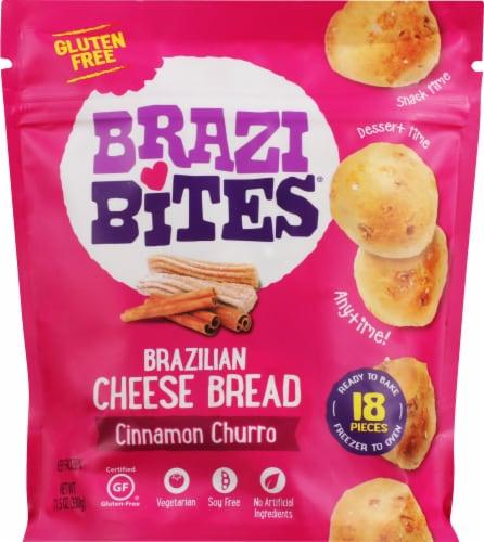 Brazi Bites Cinnamon Churro Brazilian Cheese Bread Perspective: front