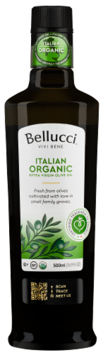 Bellucci Organic 100% Italian Extra Virgin Olive Oil Perspective: front
