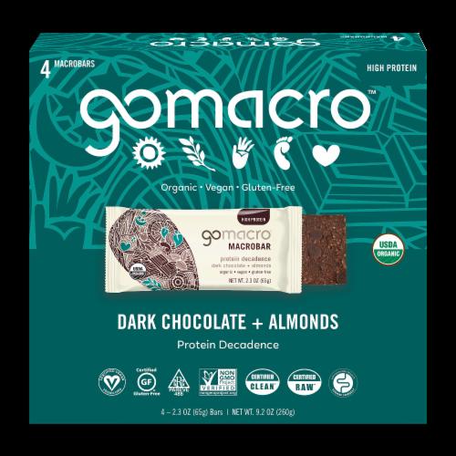 GoMacro MacroBar Dark Chocolate & Almonds Bars Perspective: front
