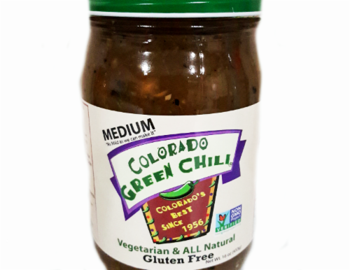 Colorado Green Chili Medium Green Chili Sauce Perspective: front