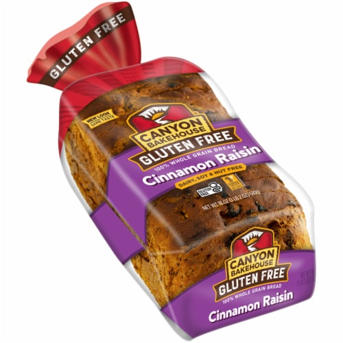 Canyon Bakehouse Gluten Free Cinnamon Raisin Bread Perspective: front
