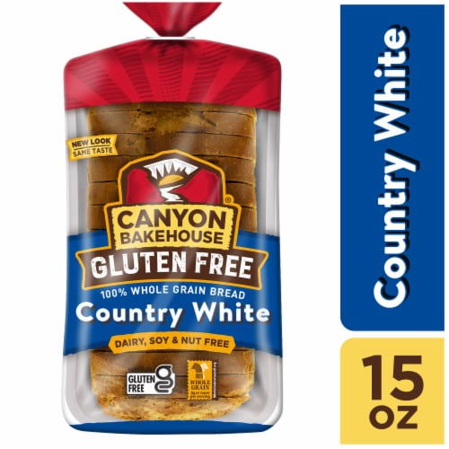 Canyon Bakehouse Gluten Free Country White Whole Grain Bread Perspective: front