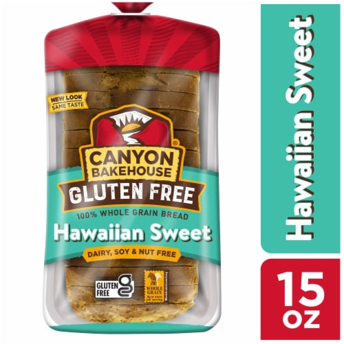 Canyon Bakehouse Gluten Free Hawaiian Sweet Whole Grain Bread Perspective: front