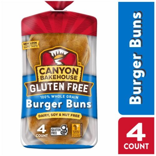 Canyon Bakehouse Gluten Free Whole Grain Burger Buns Perspective: front