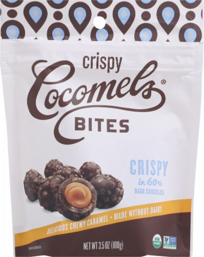 Cocomels Crispy Chocolate Covered Caramel Bites Perspective: front