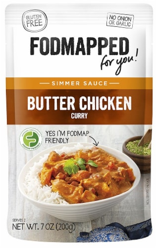 Fodmapped for You  Simmer Sauce Gluten Free   Butter Chicken Curry Perspective: front