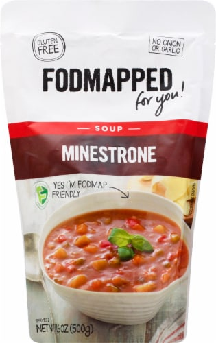 Fodmapped for You Soup Gluten Free Minestrone Soup Perspective: front