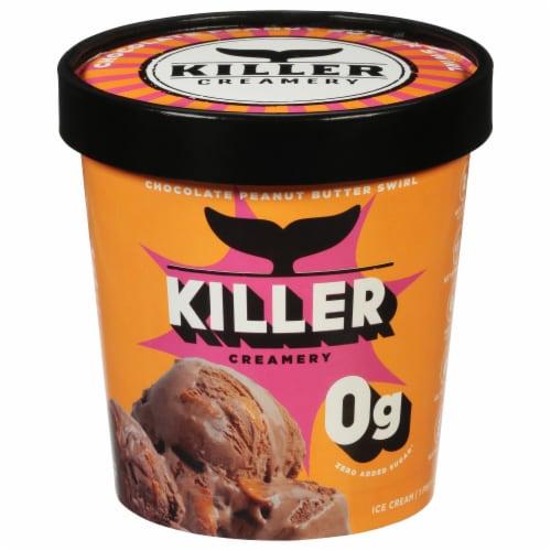 Killer Creamery Peanut Blubber Keto Chocolate Peanut Butter Flavored Ice Cream Perspective: front