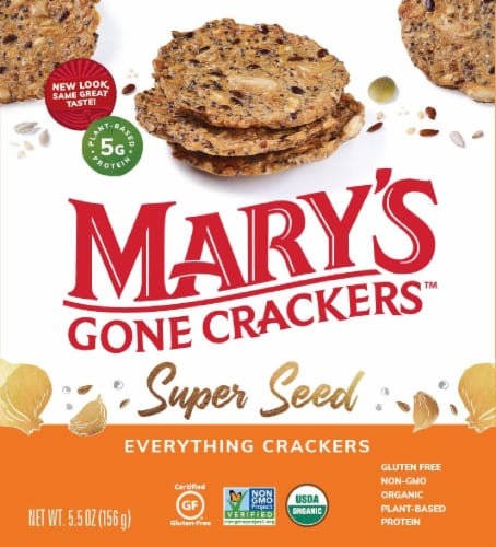 Mary's Gone Crackers Super Seed Everything Crackers Perspective: front