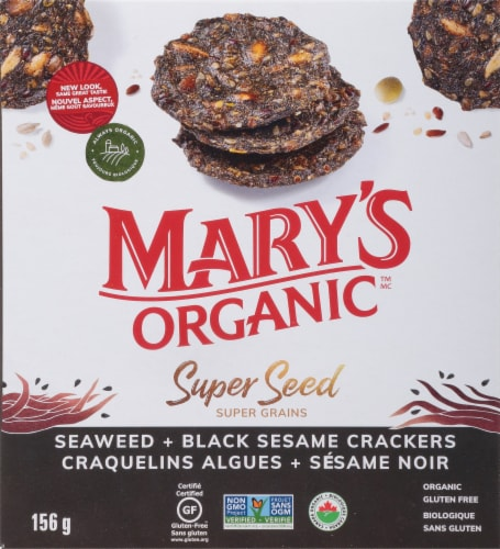 Mary's Gone Crackers  Super Seed™ Crackers   Seaweed & Black Sesame Perspective: front