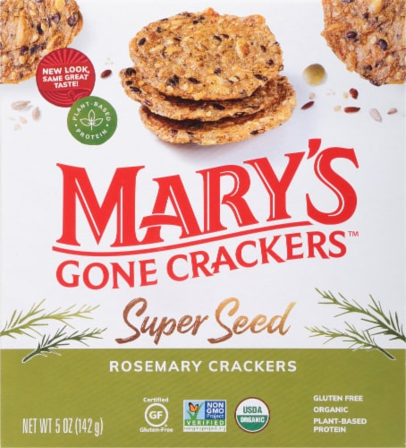 Mary's Gone Crackers Rosemary Super Seed Crackers Perspective: front