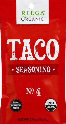 Riega Foods Organic Gluten Free #4 Taco Seasoning Perspective: front
