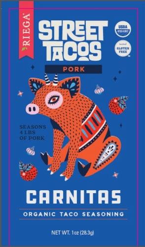 Riega Pork Carnitas Organic Street Taco Seasoning Perspective: front