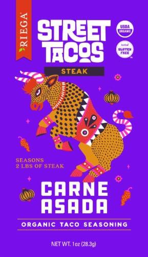 Riega Foods Organic Street Tacos Carne Asada Seasoning Perspective: front
