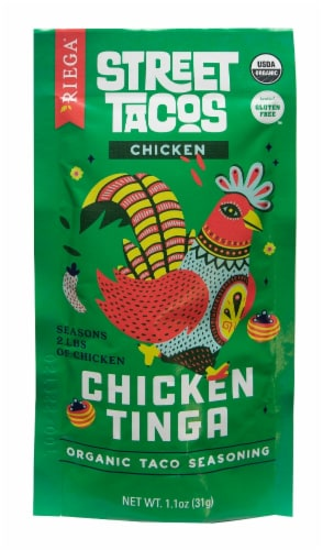Riega Foods Organic Street Tacos Chicken Tinga Taco Seasoning Perspective: front