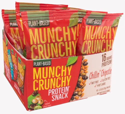Munchy Crunchy Protein Snack Chillin' Chipotle Trail Mix Perspective: front