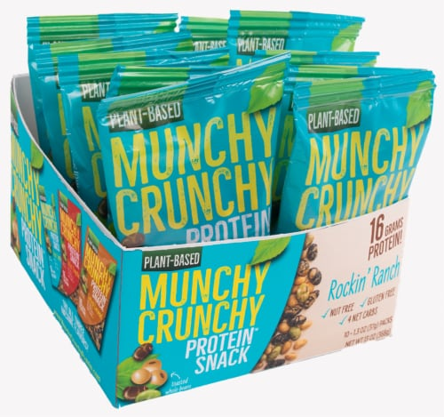 Rockin' Ranch 10-Packet Munchy Crunchy Protein Snack Perspective: front