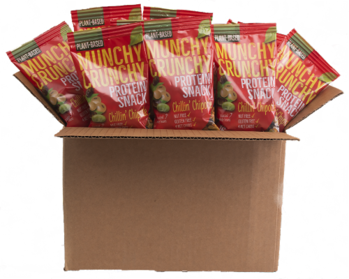Chillin' Chipotle 30-Packet Munchy Crunchy Protein Snack Perspective: front