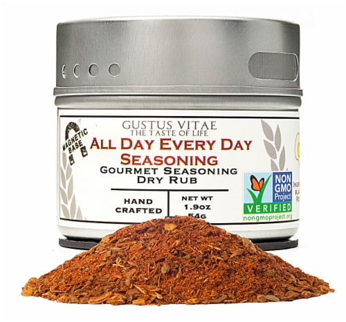 Gustus Vitae All Day Every Day Gourmet Dry Rub Seasoning Perspective: front