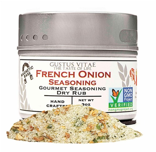 Gustus Vitae French Onion Gourmet Dry Rub Seasoning Perspective: front