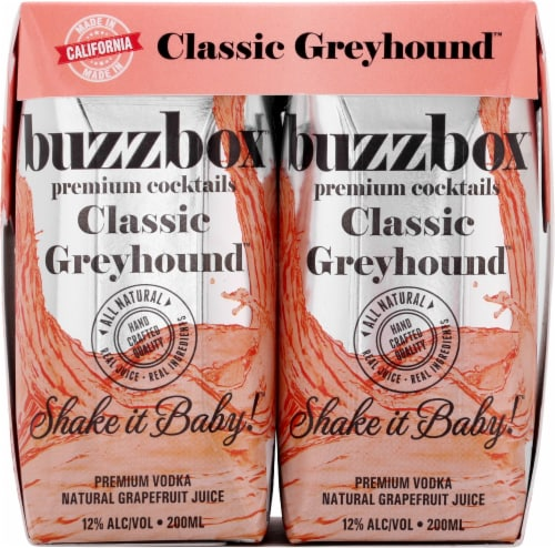 buzzboz Premium Cocktails Classic Greyhound Cocktail Perspective: front