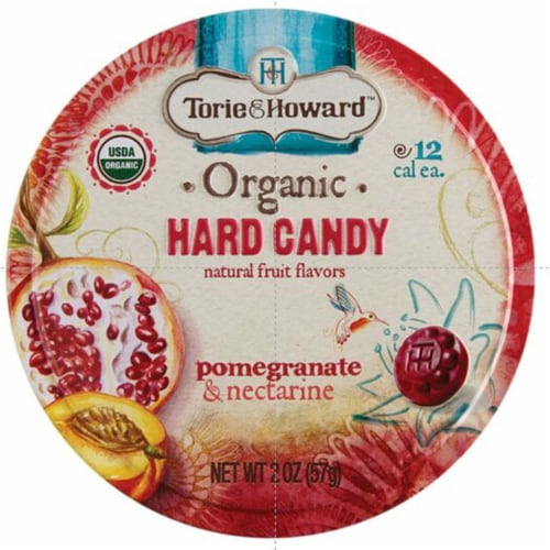 Torie & Howard Organic Pomegranate & Nectarine Hard Candy Perspective: front