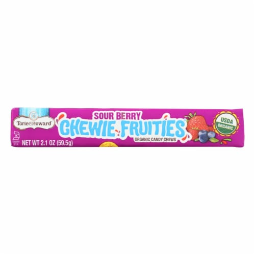 Torie and Howard - Chewy Fruities Organic Candy Chews - Sour Berry - Case of 18 - 2.1 oz. Perspective: front