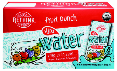 Rethink Kids Organic Fruit Punch Water Drink Boxes Perspective: front