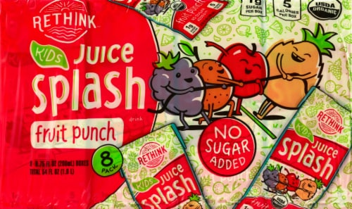 Rethink Organic Fruit Punch Juice Perspective: front