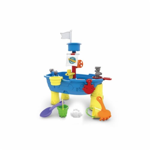 Pirate Ship, Sand and Water Play Table 13 pcs. Perspective: front